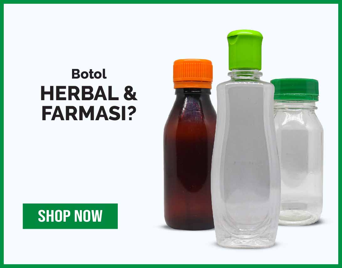 Botol herbal dan farmasi