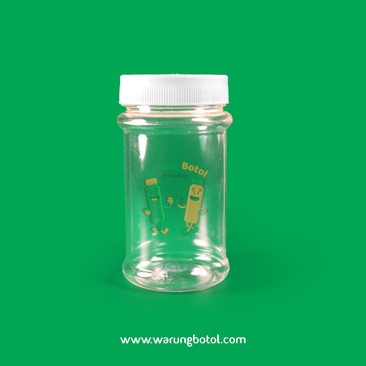 distributor toko jual toples botol plastik sambal kotak 220ml silinder murah untuk sambel terdekat di bandung, jakarta, bekasi, bogor
