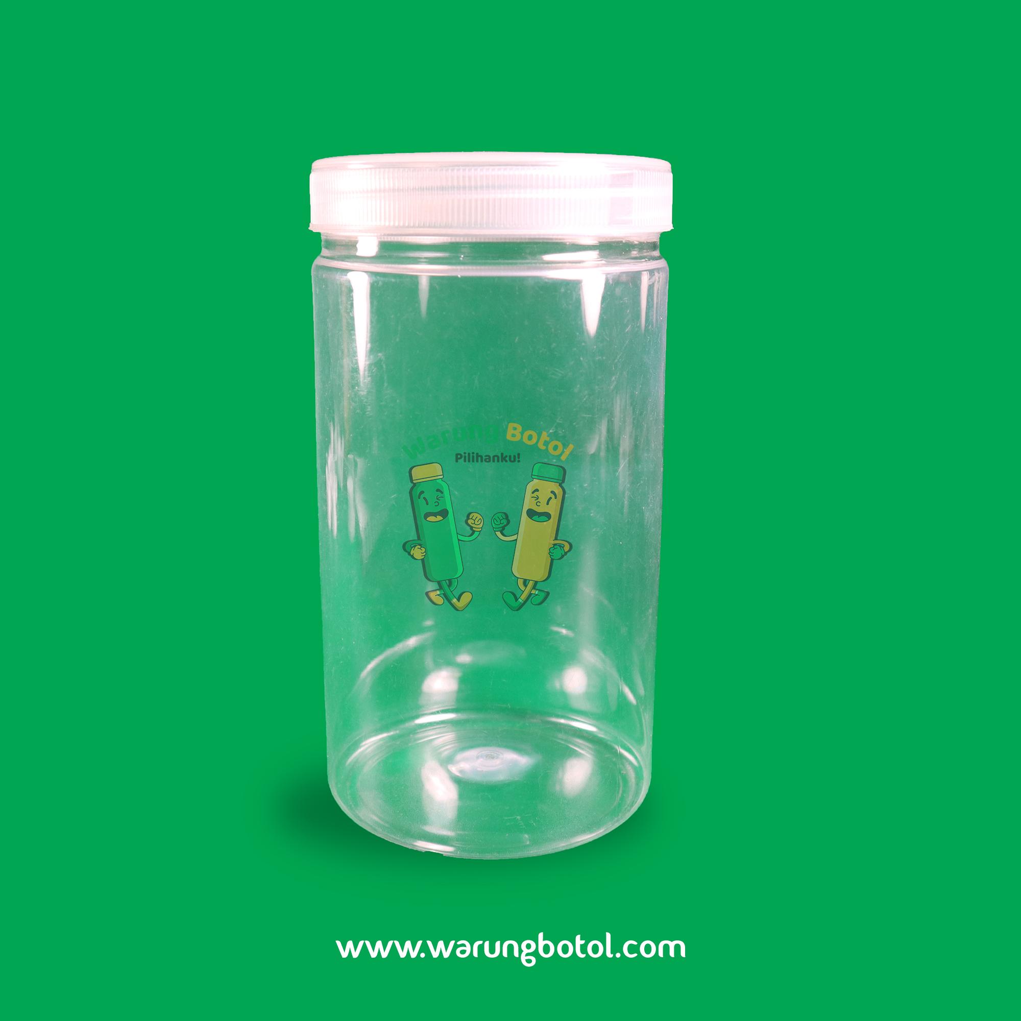 distributor jual toples plastik murah silinder 1000ml 1 liter untuk astor kue kering lebaran coktlat, nastar terdekat di bandung jakarta bekasi bogor
