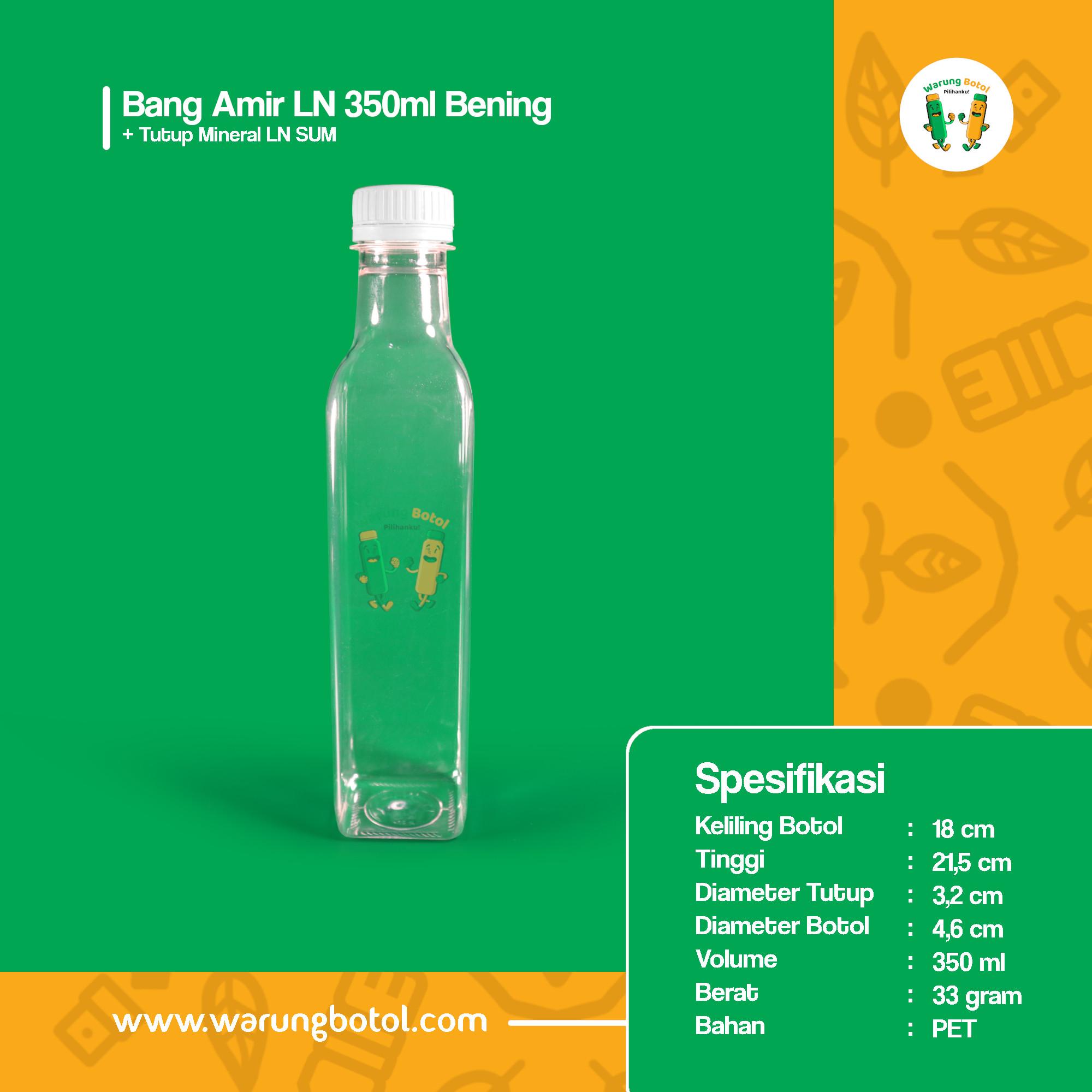 distributor jual botol plastik unik 350ml bening murah terdekat bandung jakarta bogor bekasi