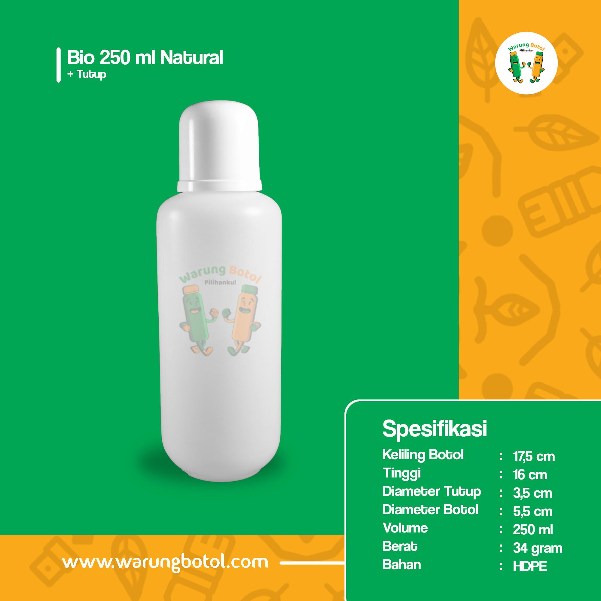 distributor toko  jual botol plastik air bio 250ml putih murah terdekat bandung jakarta bogor bekasi