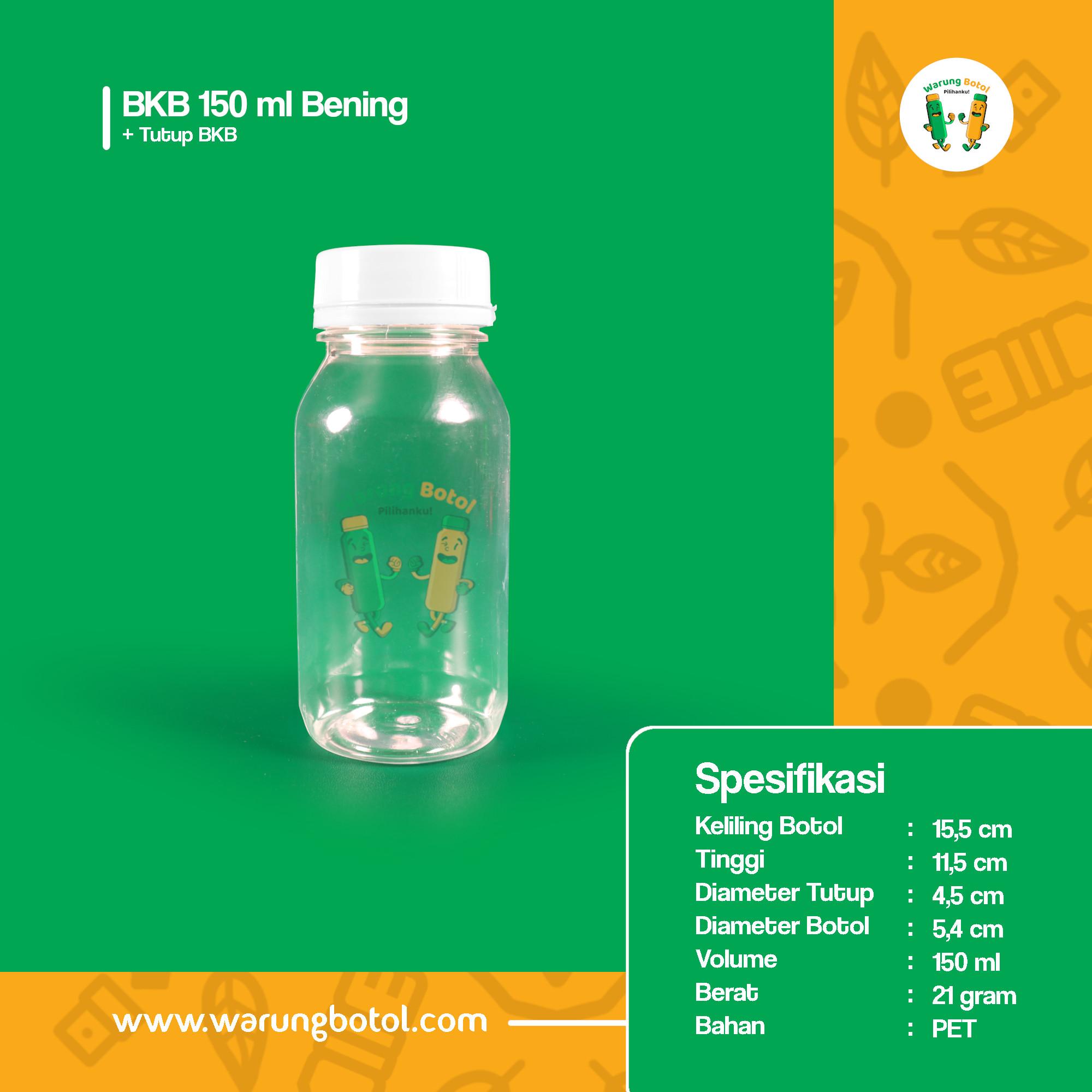 distributor toko jual botol plastik bkb untuk obat, kapsul, tablet 150ml bening murah terdekat bandung jakarta bogor bekasi