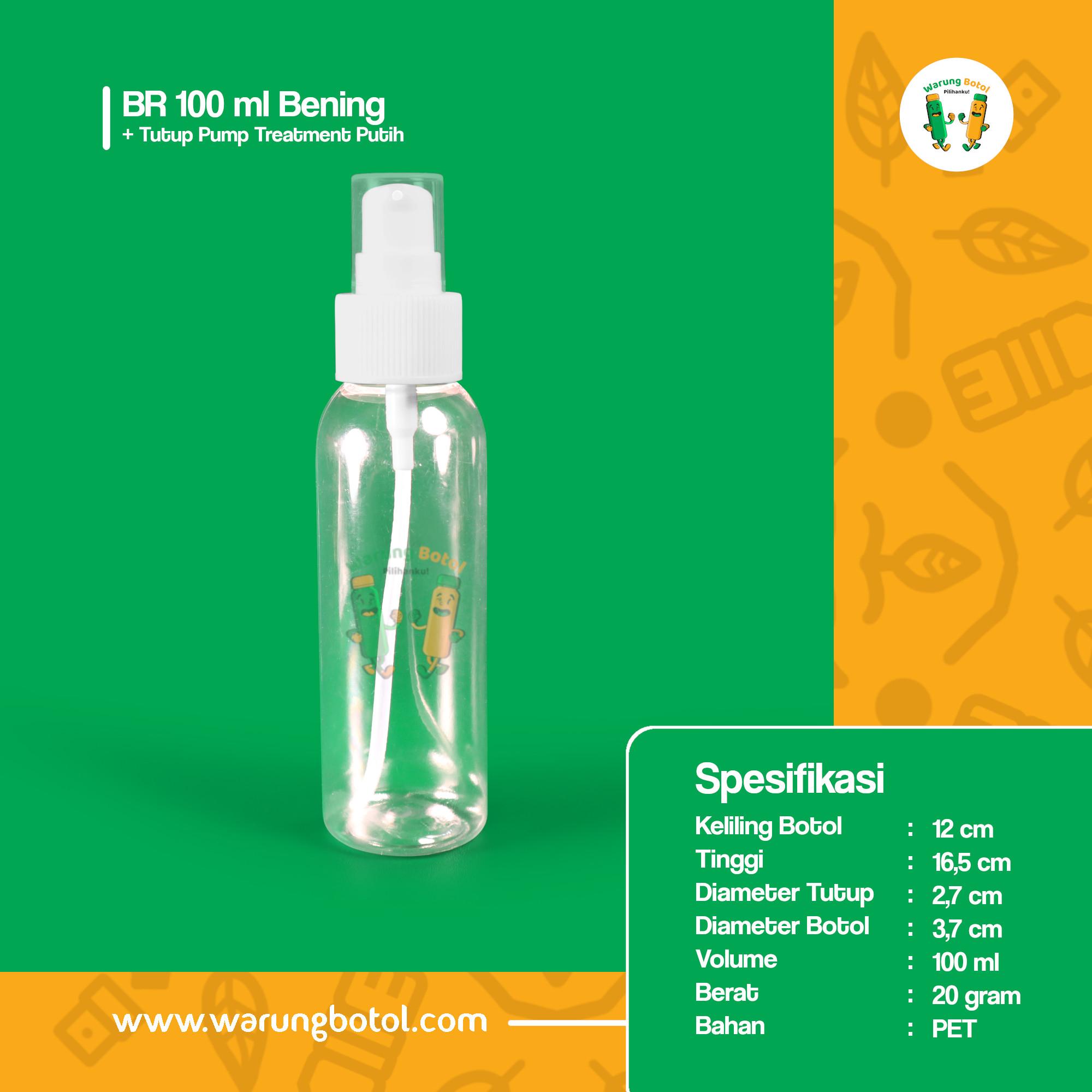 distributor toko jual botol parfum plastik murah 100ml bahan pet terdekat di bandung, jakarta, bogor, bekasi