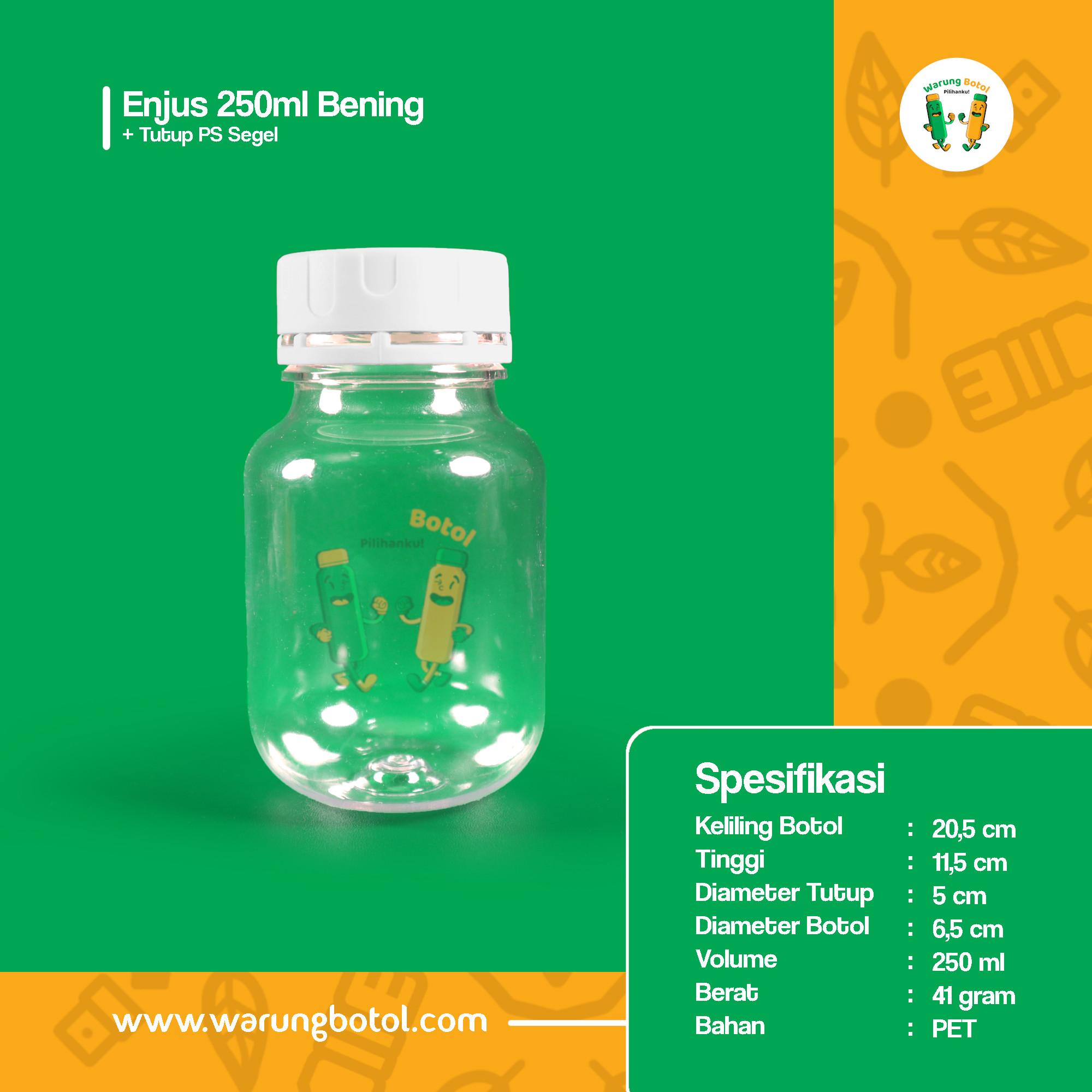 distributor jual botol plastik minuman unik 250ml bening murah terdekat bandung jakarta bogor bekasi