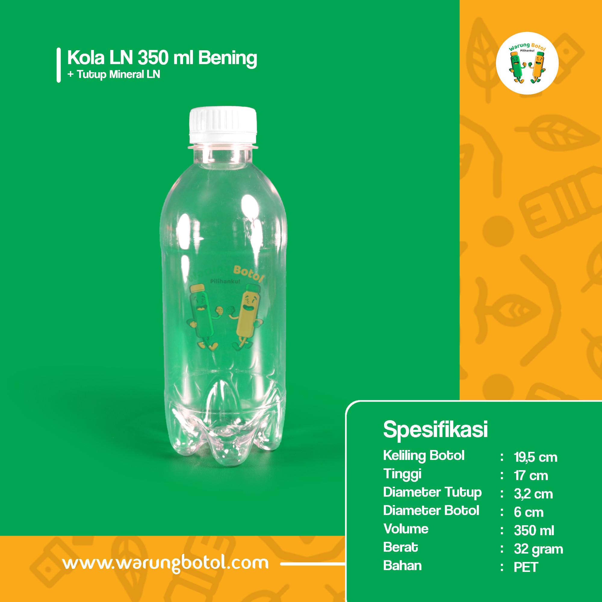 distributor jual botol plastik minuman kola, jus unik 350ml bening murah terdekat bandung jakarta bogor bekasi