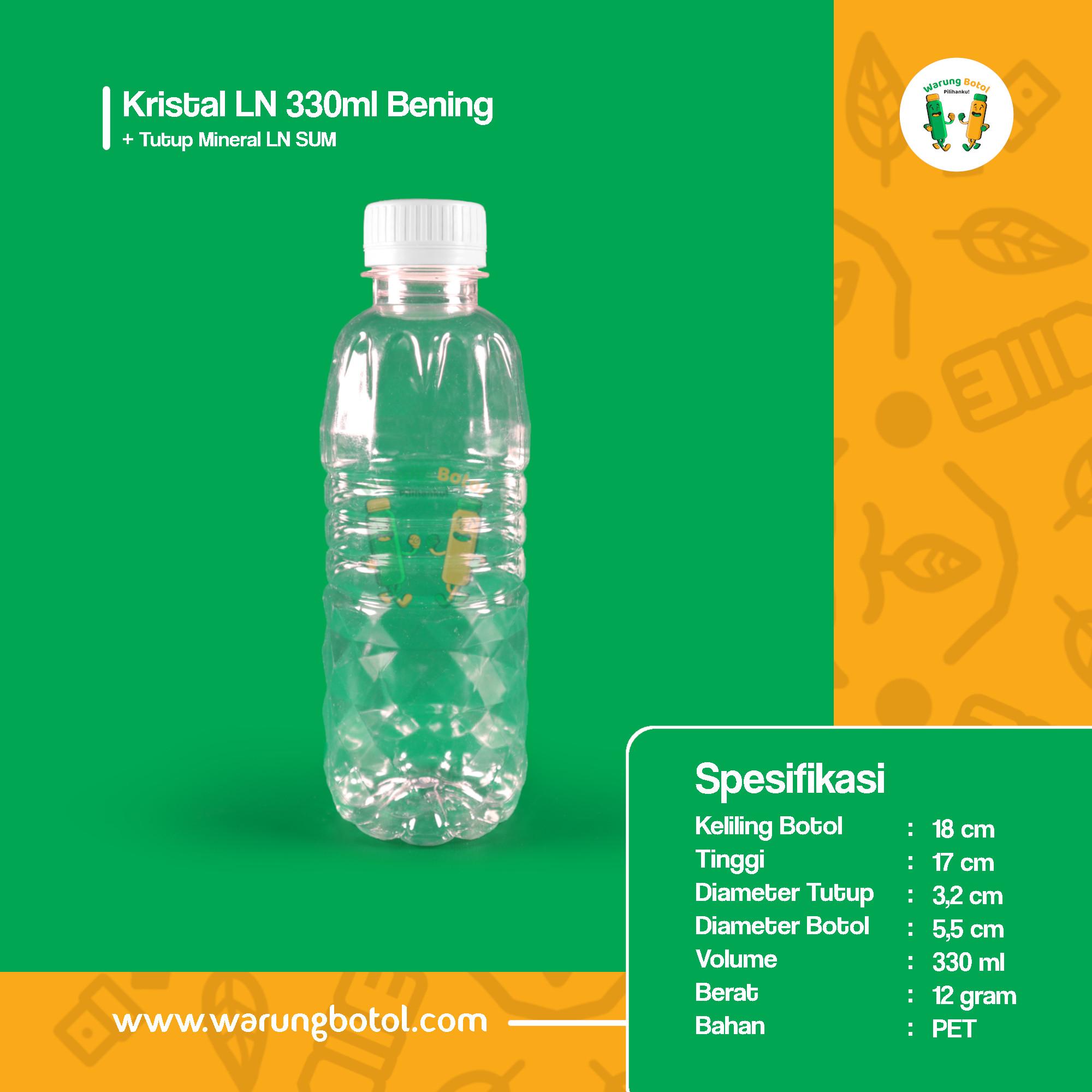 distributor jual botol plastik minuman kola, jus unik 330ml bening murah terdekat bandung jakarta bogor bekasi