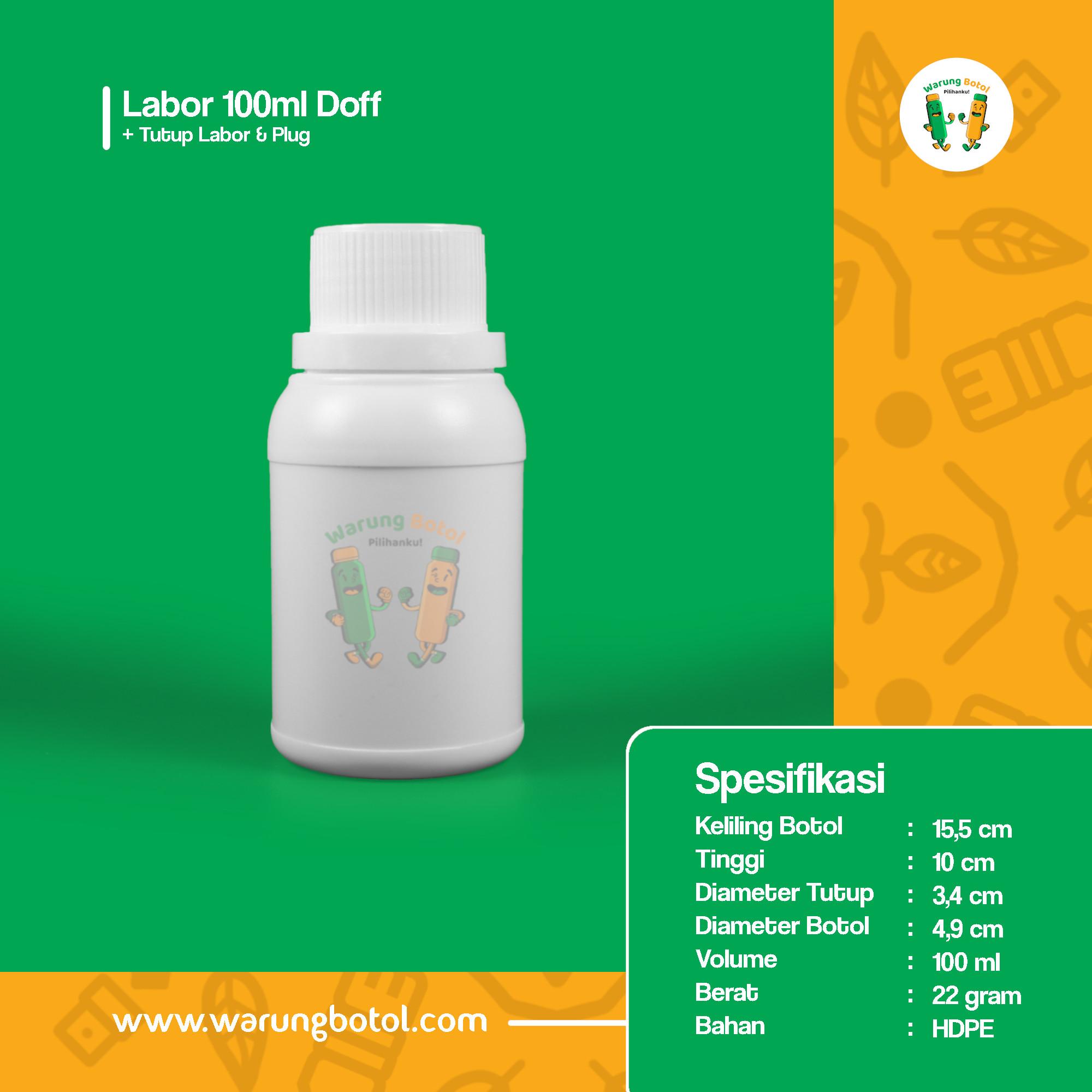 distributor toko jual botol plastik labor untuk bahan kimia 100ml putih murah terdekat bandung jakarta bogor bekasi