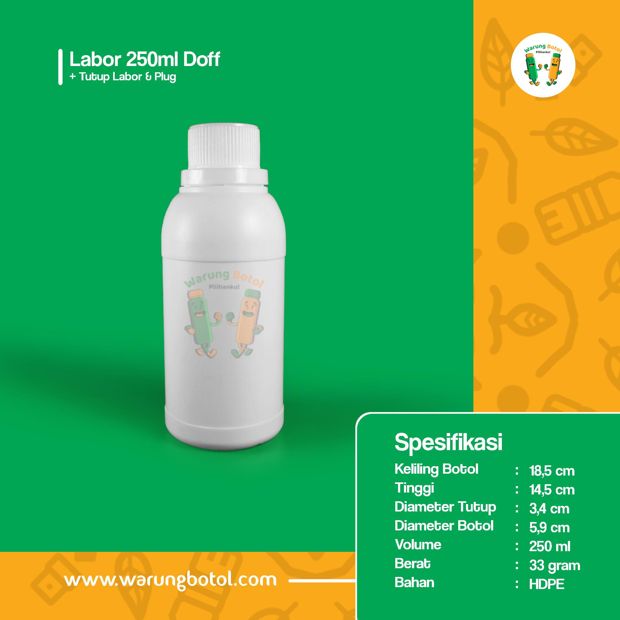 distributor toko jual botol plastik labor untuk bahan kimia 250ml putih murah terdekat bandung jakarta bogor bekasi