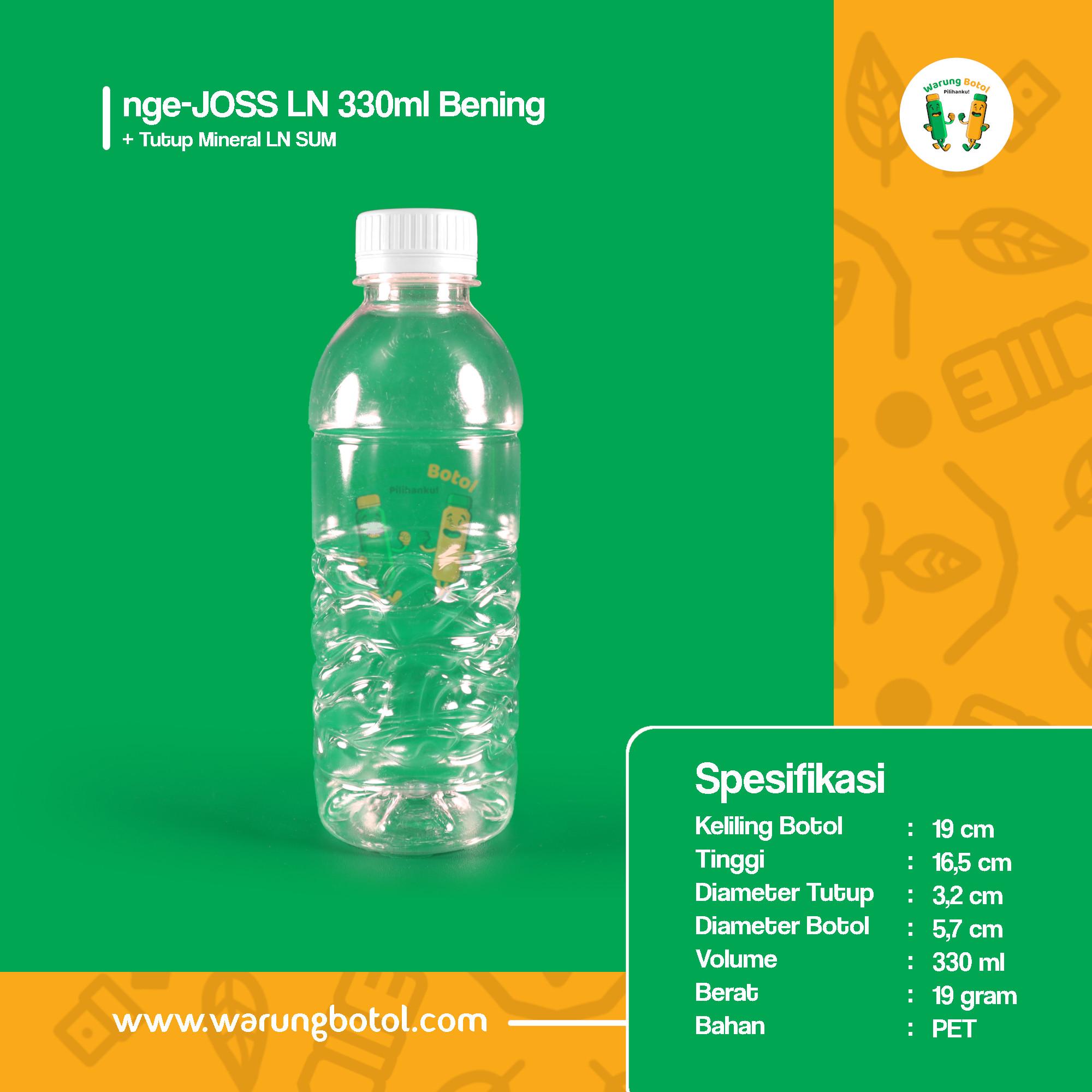 distributor jual botol plastik murah dan unik 330ml untuk kopi jus, minuman, susu soda boba terdekat di bandung jakarta bekasi bogor