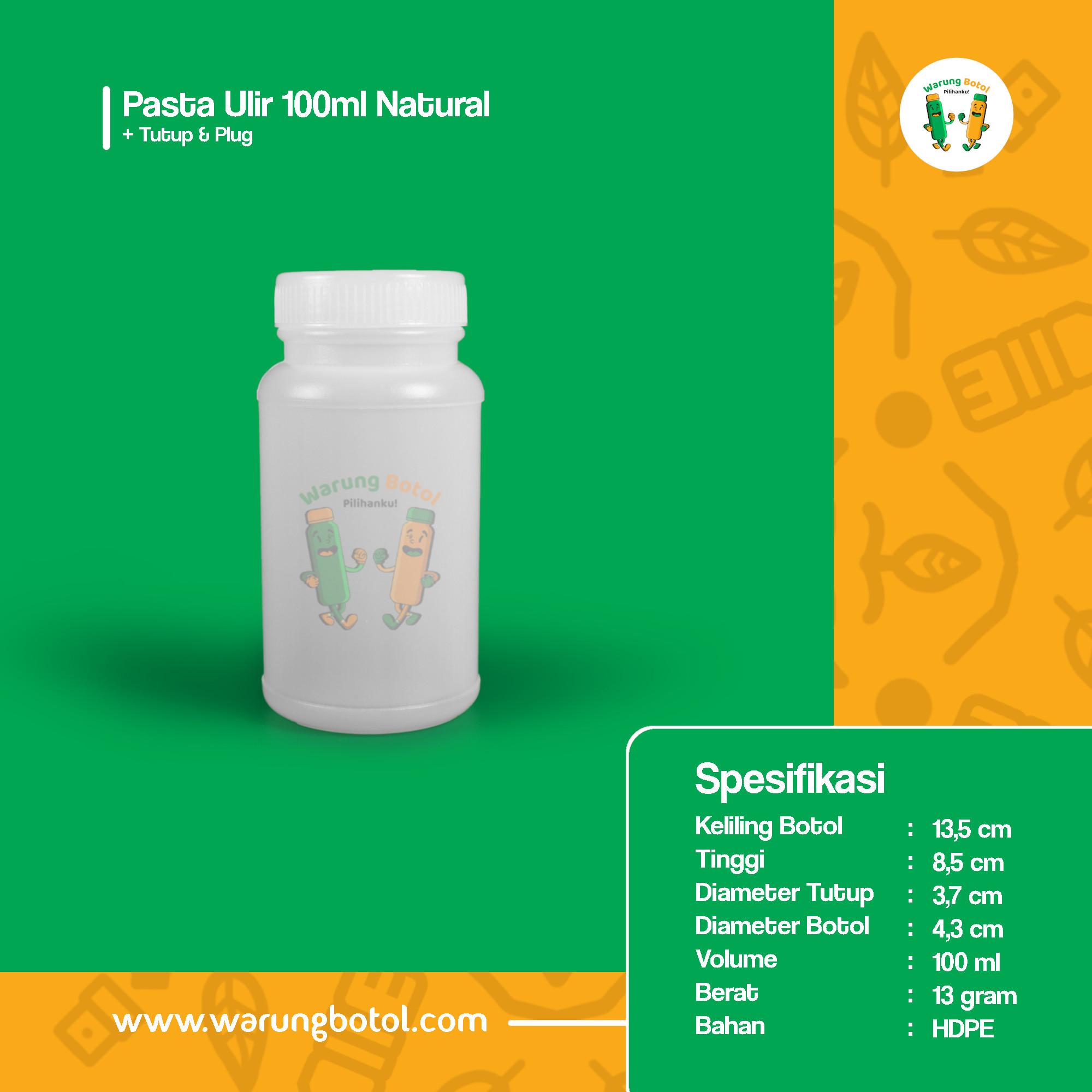 distributor toko jual botol plastik untuk obat kimia tablet kapsul herbal 100ml putih murah terdekat bandung jakarta bogor bekasi