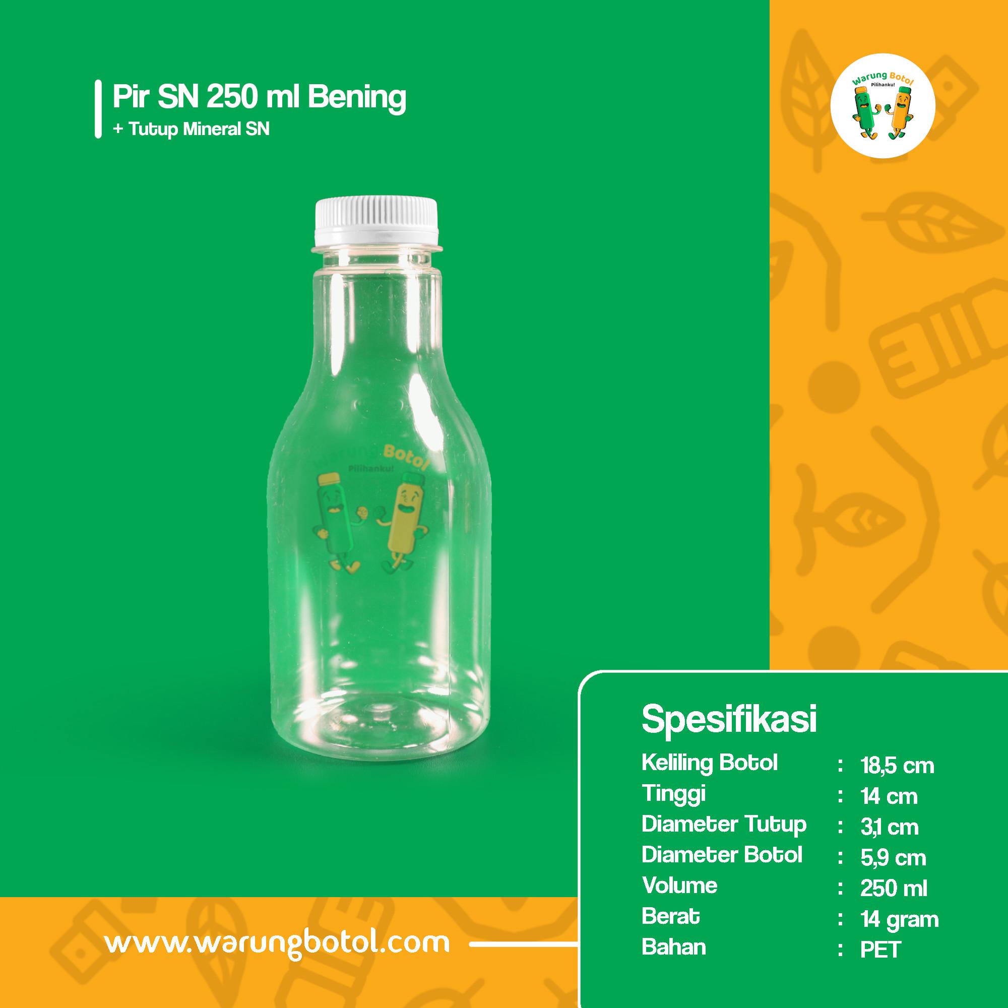 distributor jual botol palastik murah dan unik 250ml untuk kopi jus, minuman, susu soda boba terdekat di bandung jakarta bekasi bogor