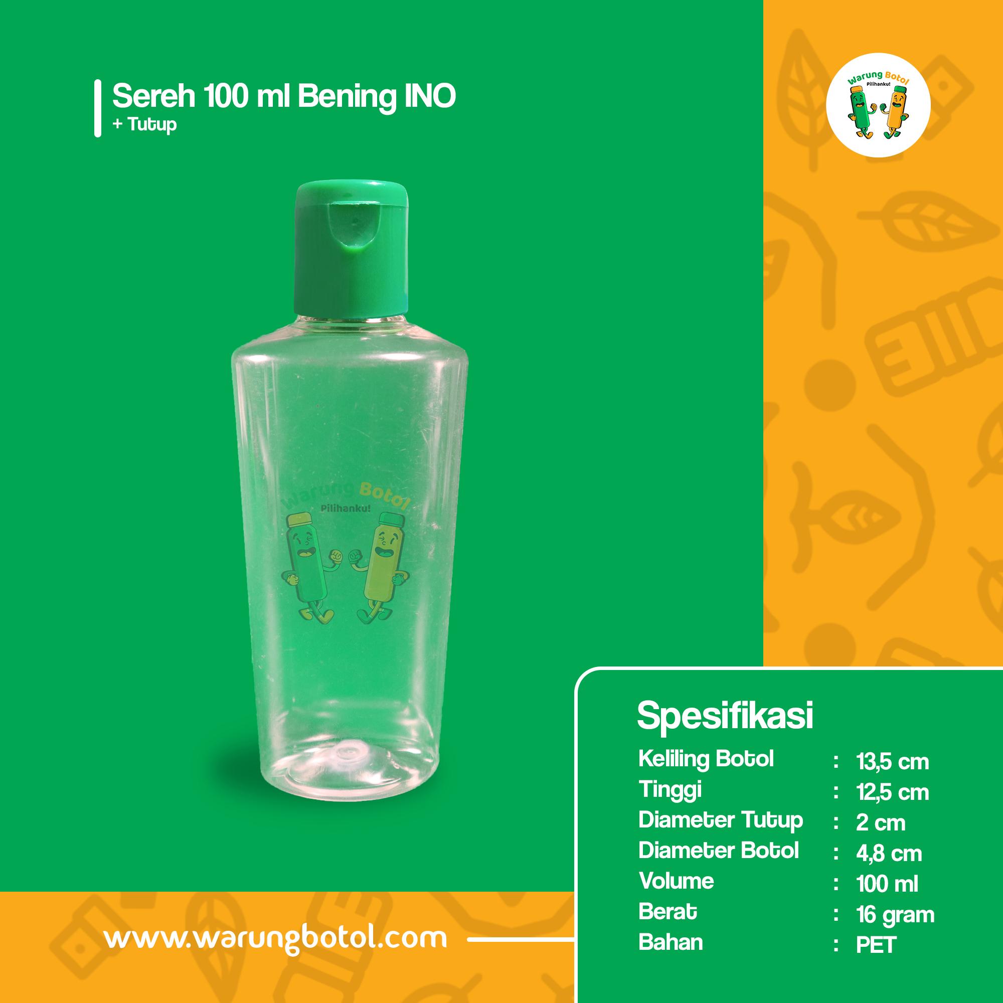 distributor toko jual Botol Plastik untuk minyak telon, obat 100ml bening berbahan pet dengan tutup pulltop murah terdekat di bandung, bekasi, jakarta dan bogor