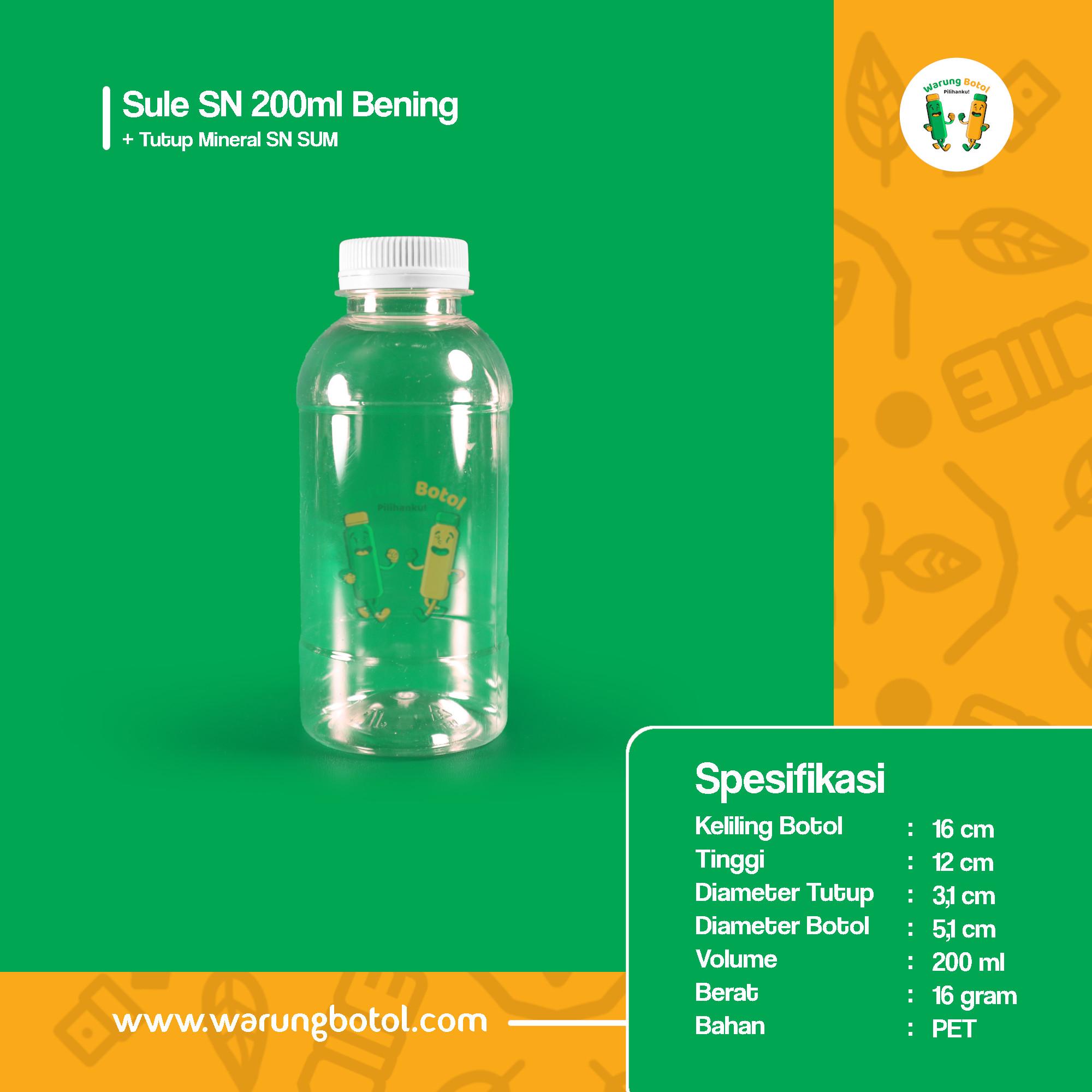 distributor jual botol palastik murah dan unik 200ml untuk kopi, sirup, jus, minuman, susu soda boba terdekat di bandung jakarta bekasi bogor