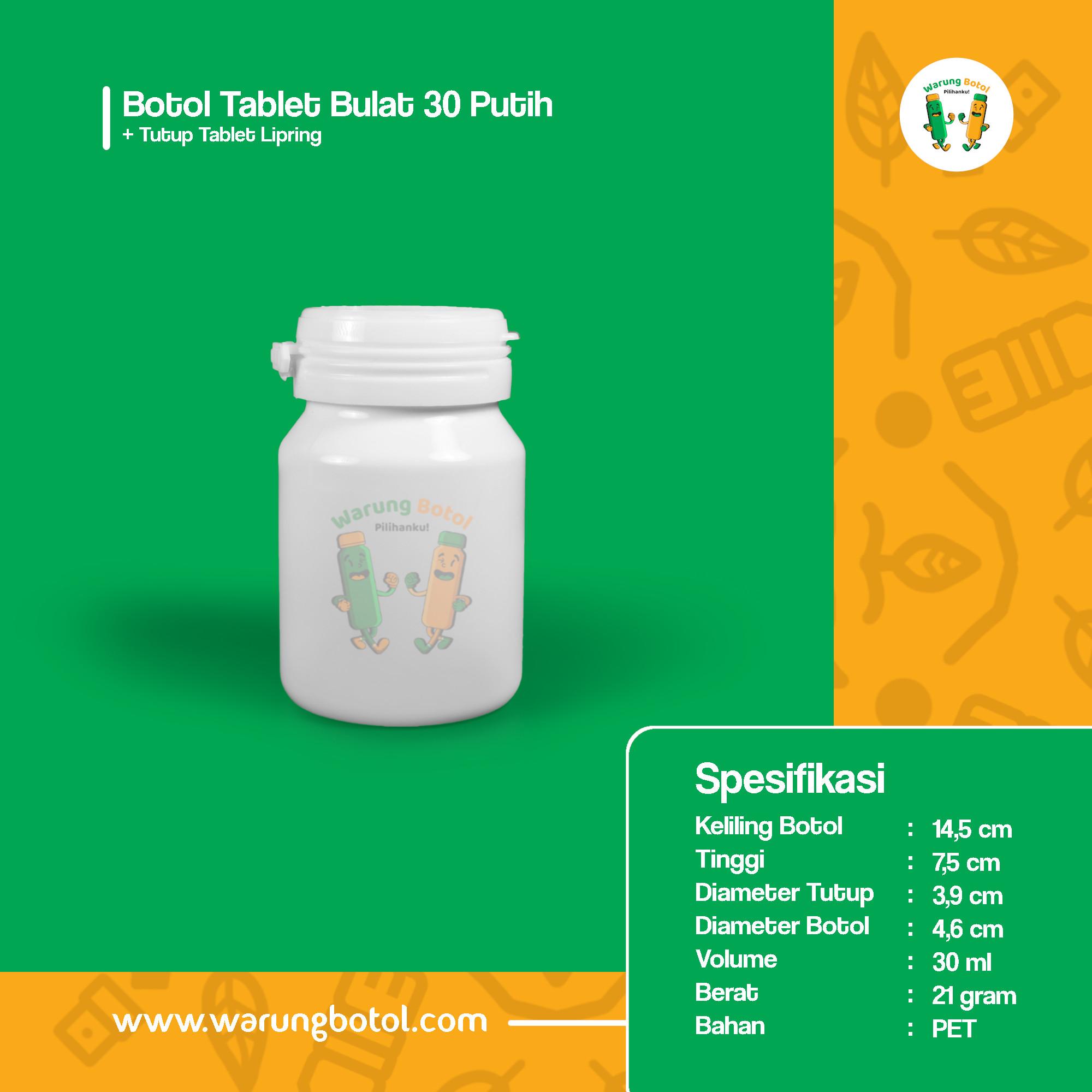 distributor jual botol plastik untuk obat kimia tablet kapsul herbal 30ml putih murah terdekat bandung jakarta bogor bekasi