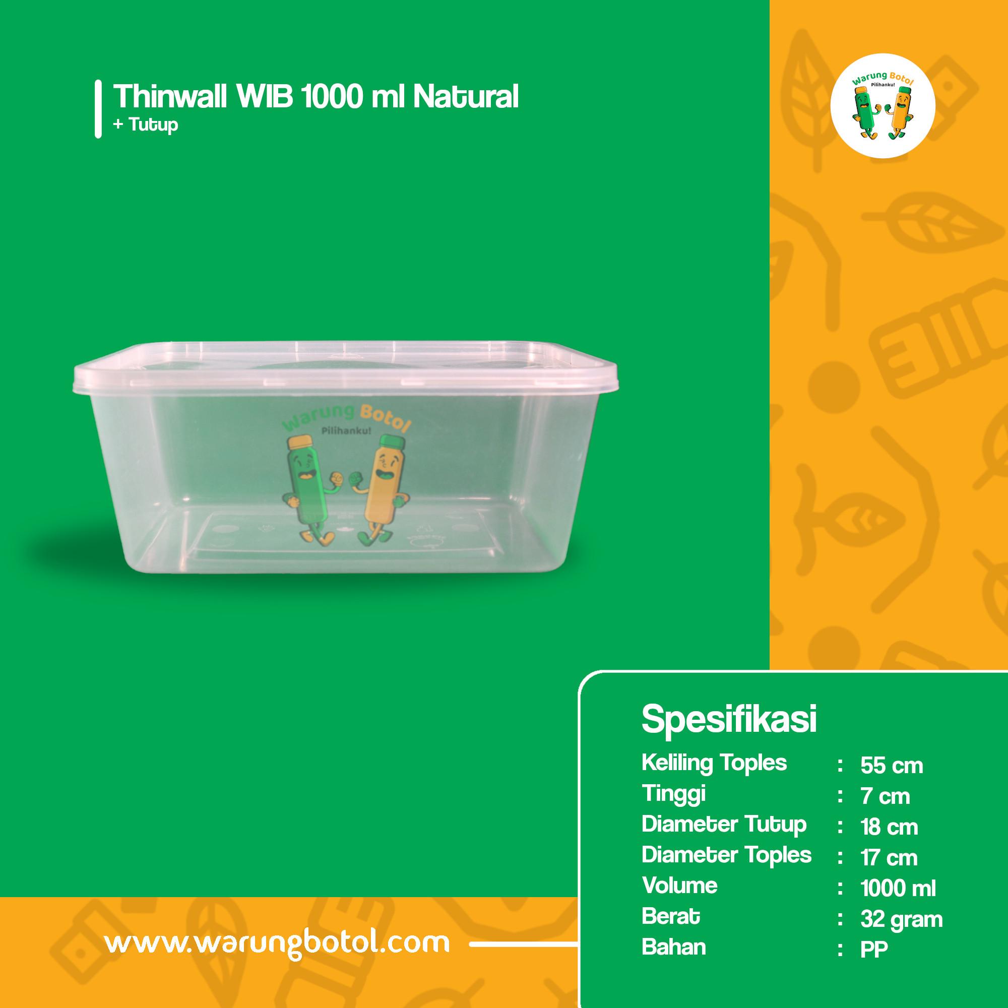 distributor toko jual thinwall kotak persegi panjang murah 1000ml 1 liter untuk kemasan makanan kebab salad terdekat di bandung jakarta bekasi bogor