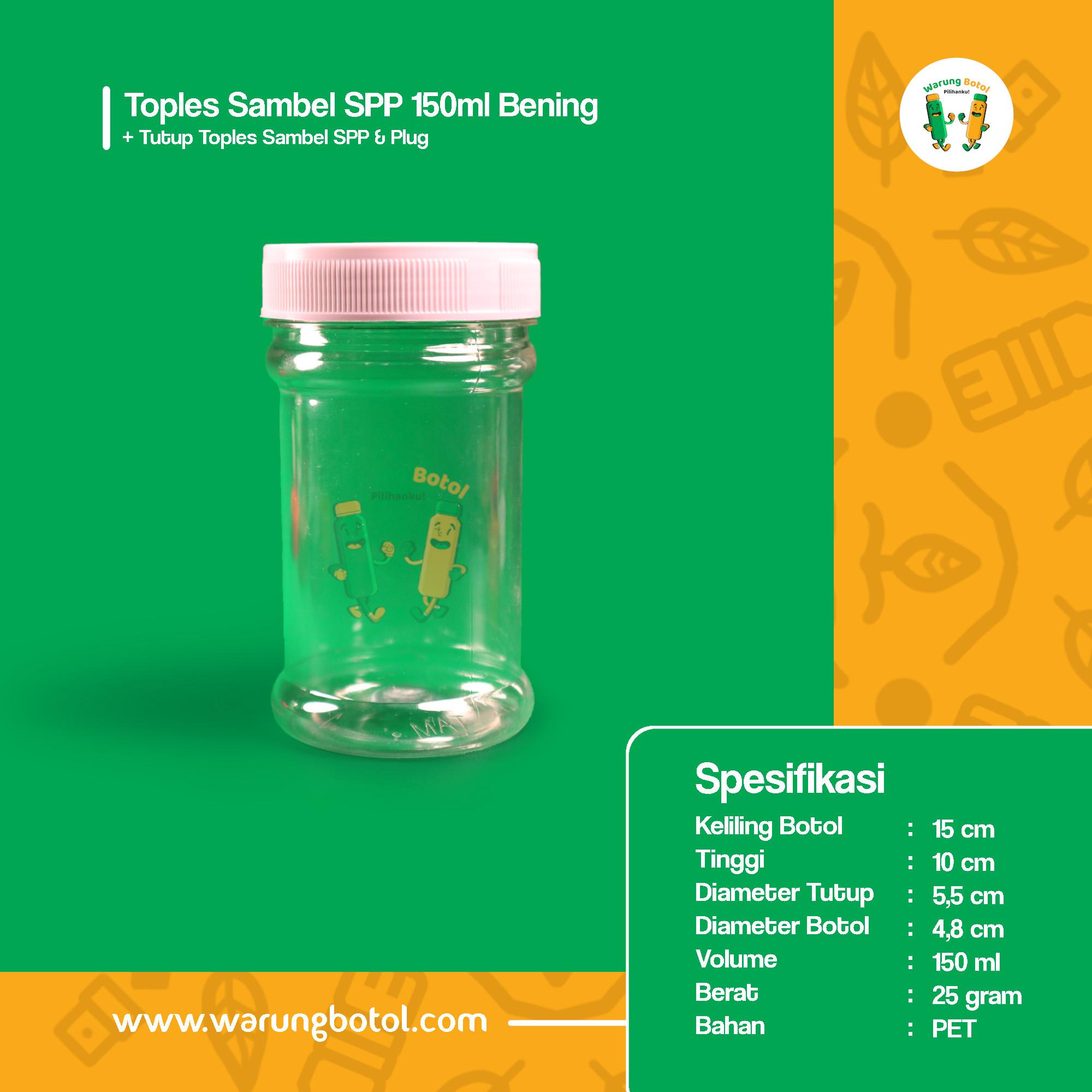 distributor toko jual toples botol plastik sambal kotak 150ml murah untuk sambel terdekat di bandung, jakarta, bekasi, bogor