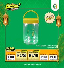 Toples Jar Sonas 800ml Handle Kuning