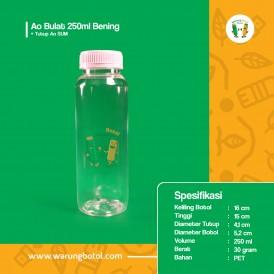 Foto Botol Ao Bulat 250 ml Bening