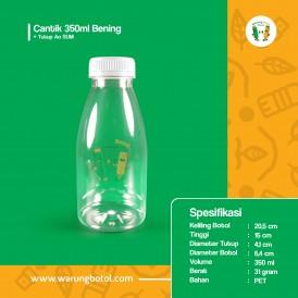Foto Botol Cantik 350 ml Bening