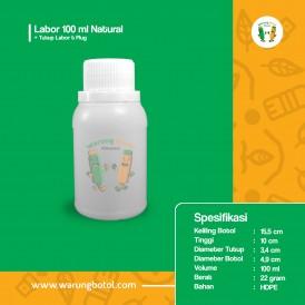 Foto Botol Labor 100 ml Natural