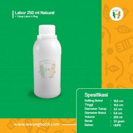Foto Botol Labor 250 ml Natural