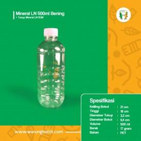 Foto Botol Mineral LN 500 ml Bening