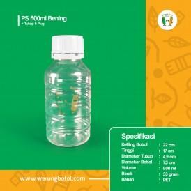 Foto Botol PS 500 ml Bening