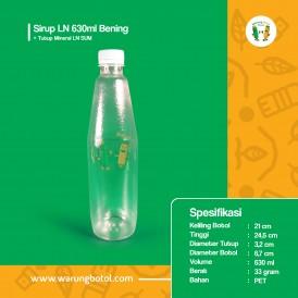 Foto Botol Sirup LN 630 ml Bening