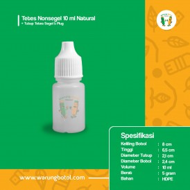 Botol Tetes Nonsegel 10 ml Natural