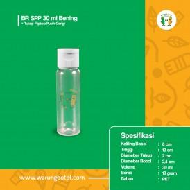 Foto BR SPP 30 ml Bening - Tutup Fliptop Putih Gerigi