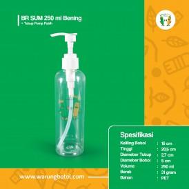 Foto BR 250 ml Bening - Tutup Pump Putih