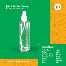 Foto Botol BR 250 ml Bening - Tutup Pump Treatment