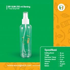 Foto BR 250 ml Bening - Tutup Spray Putih