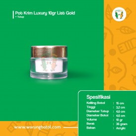 Pot Krim Luxury 10 gr List Gold