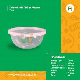 Foto Thinwall WIB 200 ml Natural