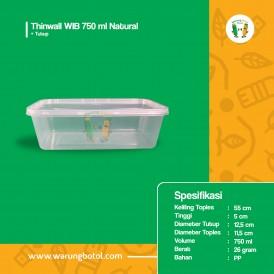 Foto Thinwall WIB 750 ml Natural