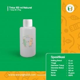 Foto Botol Tinta 100 ml Natural - Tutup Ulir