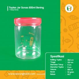 Toples Jar Sonas 800 ml Bening