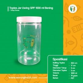 Toples Jar Uwing 1000 ml Bening