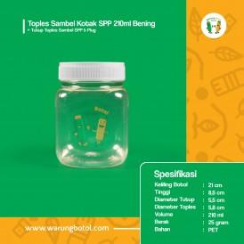 Foto Toples Sambel Kotak SPP 210 ml Bening