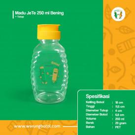 Foto Botol Madu JeTe 250 ml Bening